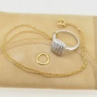 指輪をティファニータイプのネックレスに・・・!