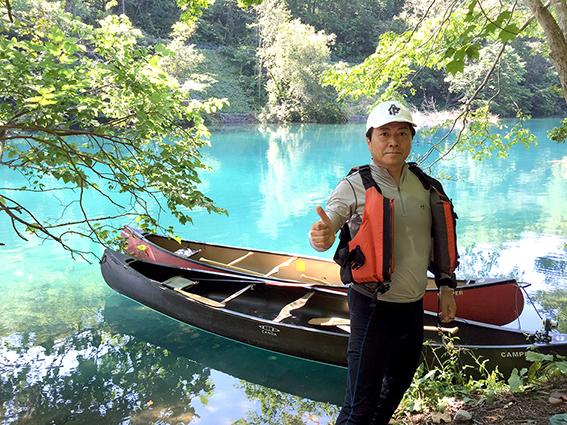 回想録・・・支笏湖でのカヌー
