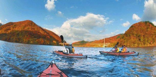 九頭竜湖の紅葉カヤック 2017年11月9日