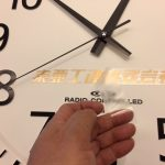 掛時計の文字書き(カッティングシートを貼る)